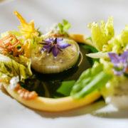 Vegetarisch, Gröstel von Kartoffel und Kopfsalat mit Schmorgurken