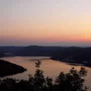 Edersee beim Sonnenuntergang