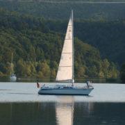 Segelboot auf dem Edersee