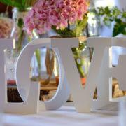 Tischdeko Detail Hochzeit